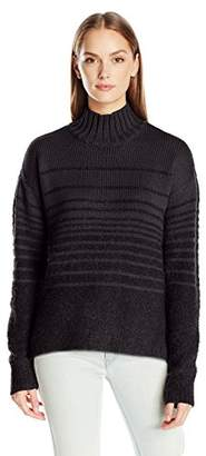 Calvin Klein Jeans Women's Boucle Funnel Neck Sweater $46.79 thestylecure.com