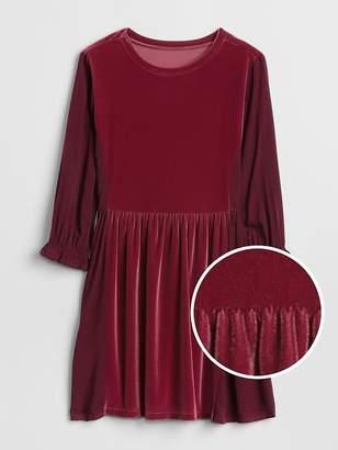 Gap Velvet Cinched-Waist Dress