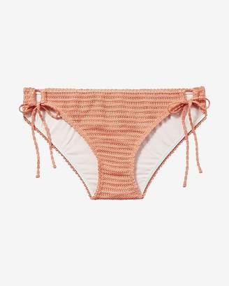 Express Low Rise Crochet Bikini Bottom