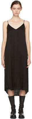 Raquel Allegra Black Silk Slip Dress
