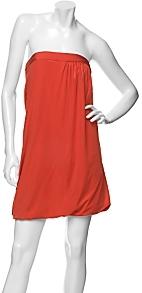 Jay Godfrey Strapless Silk Jersey Drape Dress