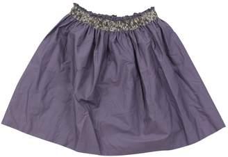 Dagmar Daley Purple Cotton Skirt
