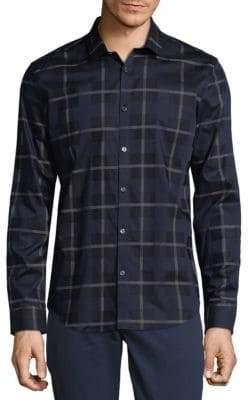 Calvin Klein Yarn-Dye Largescale Plaid Shirt