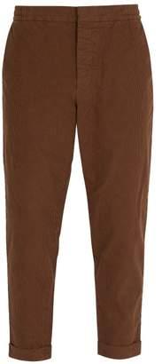 Barena venezia Venezia - Micro Check Cotton Blend Trousers - Mens - Brown Multi