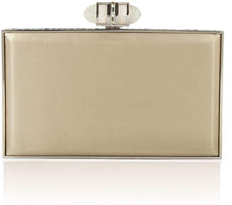 Judith Leiber Couture Satin Coffered Rectangle Clutch Bag, Champagne