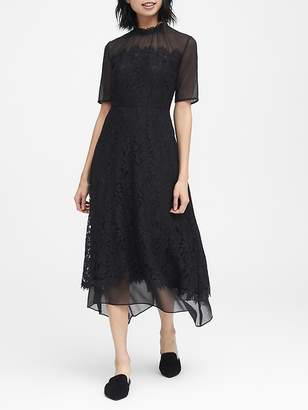 Banana Republic JAPAN ONLINE EXCLUSIVE Lace Handkerchief Hem Dress