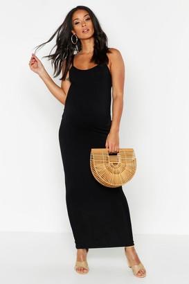 boohoo Maternity Lacey Strappy Maxi Bodycon Dress