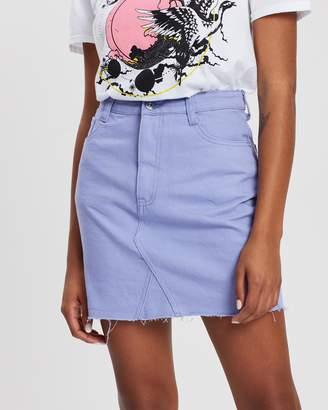 Missguided Rigid Straight Denim Mini Skirt