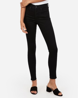 Express High Waisted Denim Perfect Black Ankle Leggings