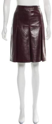 Belstaff Leather Pleated Skirt