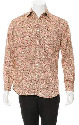 Paul Smith Floral Button-Up Corduroy Shirt
