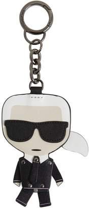Karl Lagerfeld Paris Iconic Leather Key Chain