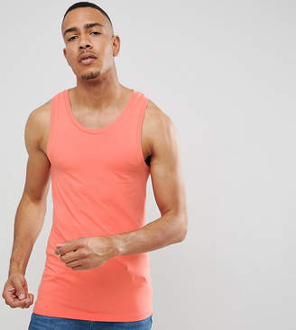 Asos Design DESIGN Tall muscle fit singlet in pink