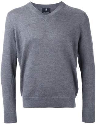 Kent & Curwen logo embroidery V-neck jumper