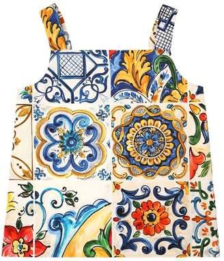 Dolce & Gabbana Maiolica Print Cotton Poplin Top