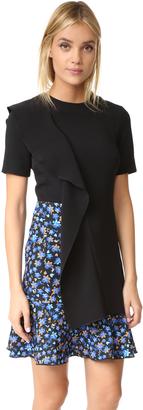 EDIT Asymmetric Sculptured Frill Mini Dress $495 thestylecure.com