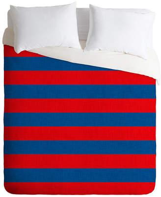 Deny Designs Holli Zollinger Rugby Stripe Queen Duvet Set Bedding