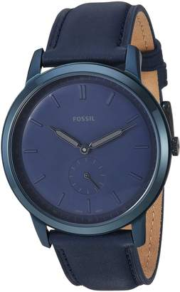 Fossil Men's 'The Minimalist-Mono' Quartz Stainless Steel and Leather Casual Watch, Color (Model: FS5448)
