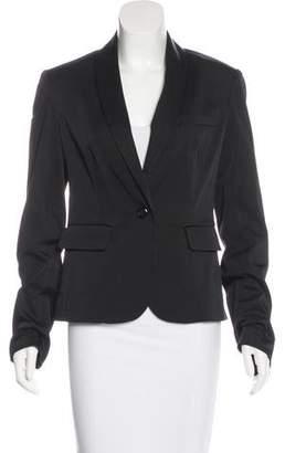 L'Agence Shawl-Lapel Long Sleeve Blazer