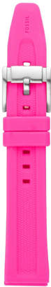 Fossil 18mm Neon Pink Silicone Watch Strap