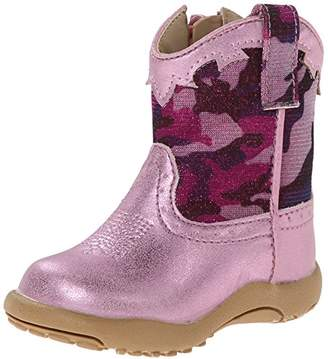 Roper Glitter Camo Square Toe Cowgirl Boot (Infant/Toddler/Little Kid)