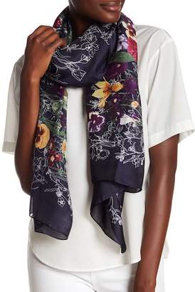 Do Everything in Love Floral Satin Scarf
