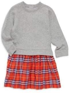 Burberry Little Girl's& Girl's Francine Cotton Contrast-Skirt Dress