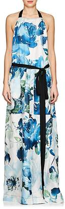 BY. Bonnie Young Women's Floral Silk Apron Dress