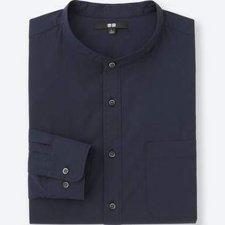 Uniqlo MEN Extra Fine Cotton Stand Collar Long Sleeve Shirt