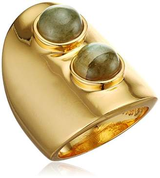 Lizzie Fortunato Gold-Plated Mountain Ring in Labradorite - Size N