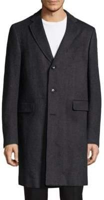 Pal Zileri Herringbone Long Coat