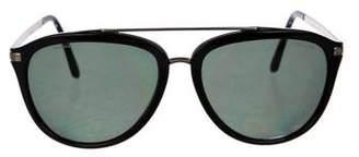 Versace Polarized Aviator Sunglasses