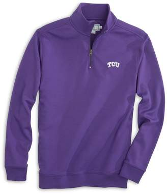 Southern Tide Gameday Skipjack 1/4 Zip Pullover - Texas Christian University