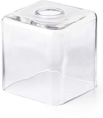 Waterworks Studio Clear Glass Tissue Box Cover