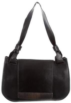 Gucci Leather Flap Shoulder Bag