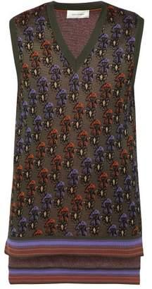 Wales Bonner Floral Jacquard Cotton Blend Vest - Mens - Khaki