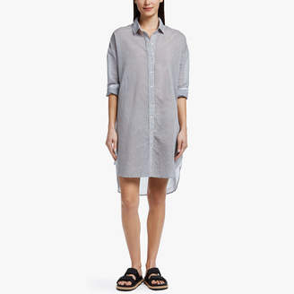 James Perse COLLAGE STRIPE SHIRT DRESS
