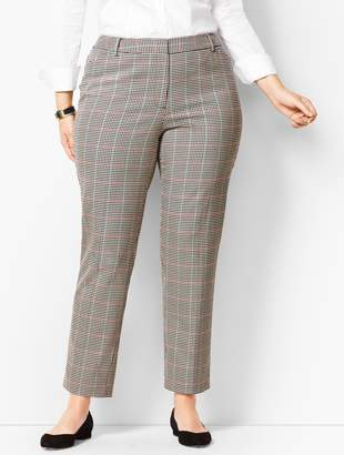 dc2673e5df219 Talbots Plus Size High-Waist Tailored Ankle Pants - Cottage Plaid