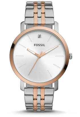 Fossil Lux Luther Three-Hand Two-Tone Stainless Steel Watch