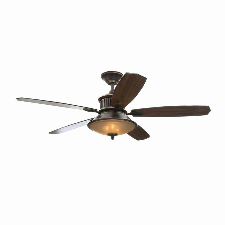 Hampton Bay Isolabella II 52 in. Tarnished Bronze Ceiling Fan