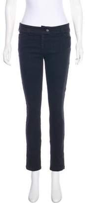 Balenciaga Mid-Rise Straight Leg Jeans