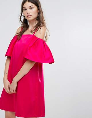 Warehouse Bardot Mini Dress