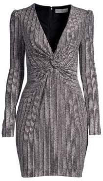 Rachel Zoe Poppy Metallic Twist-Front Dress