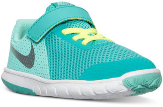Nike Little Girls' Flex Experience 5 Velcro Running Sneakers from Finish Line $54.99 thestylecure.com