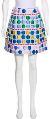 DELPOZO Patterned Mini Skirt
