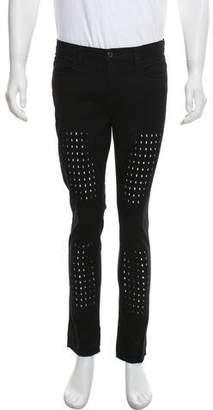 J Brand Geometric Cut-Out Skinny Jeans
