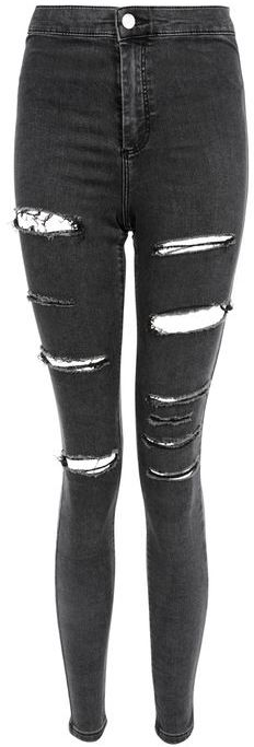 Topshop Topshop Moto washed black ripped joni jeans