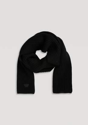 Emporio Armani Scarf In Cob Stitch Virgin Wool