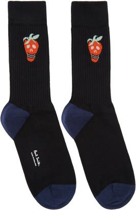 Paul Smith Black Jacquard Socks $30 thestylecure.com