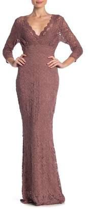 Marina Glitter Lace Gown